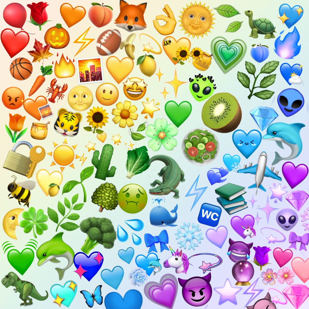 rainbow emoji rainbowemojis background emojibackground...