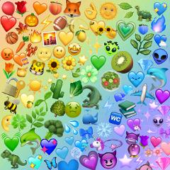 rainbow emoji rainbowemojis background emojibackground freetoedit