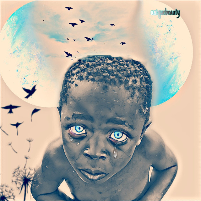 #boy #editedwithpicsart #edityourheartout #editsbyme #creativity #colorsplash #coloreyes#blue#sky#uniquebeauty#uniquelydope #artist #artwork #beautiful#beautifypicsart #crying#blackbeauty