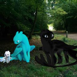 freetoedit nightfury lightfury httyd3 dragon schoolofdragons