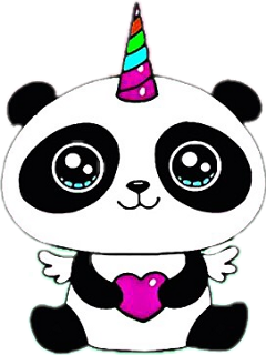 pandacorn unicorn freetoedit