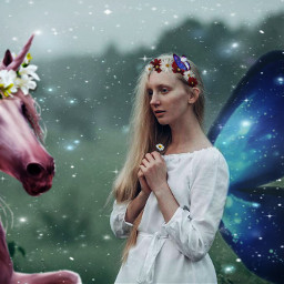 stickers unicorns fairy sparklemask magical freetoedit