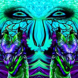 srccarnavalwings carnavalwings freetoedit dragon türkis