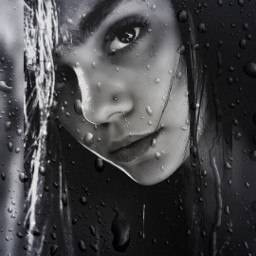 emotions darkart_saturday beauty rain posterart
