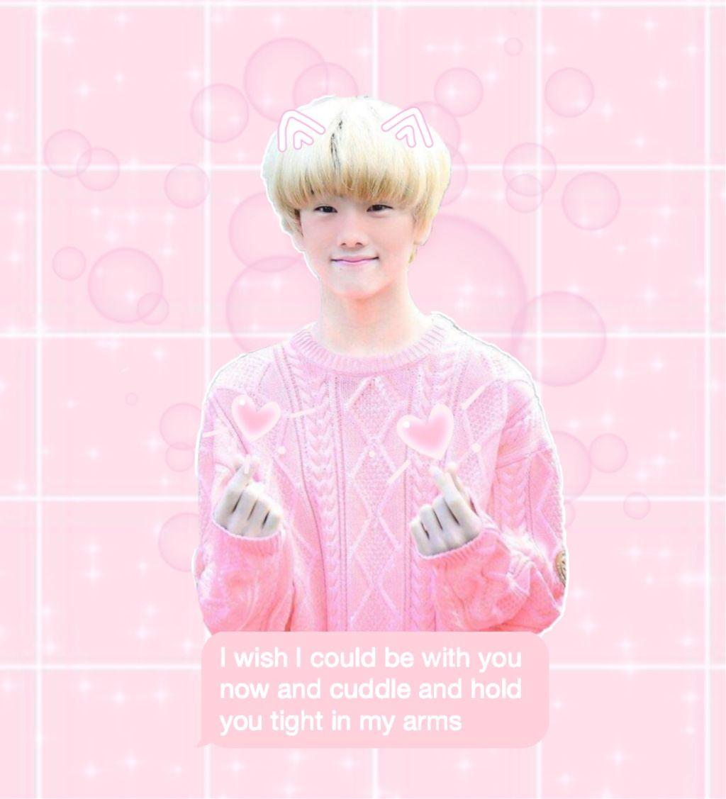 freetoedit jisung nct nctdream pastel pink @hyunjinseye