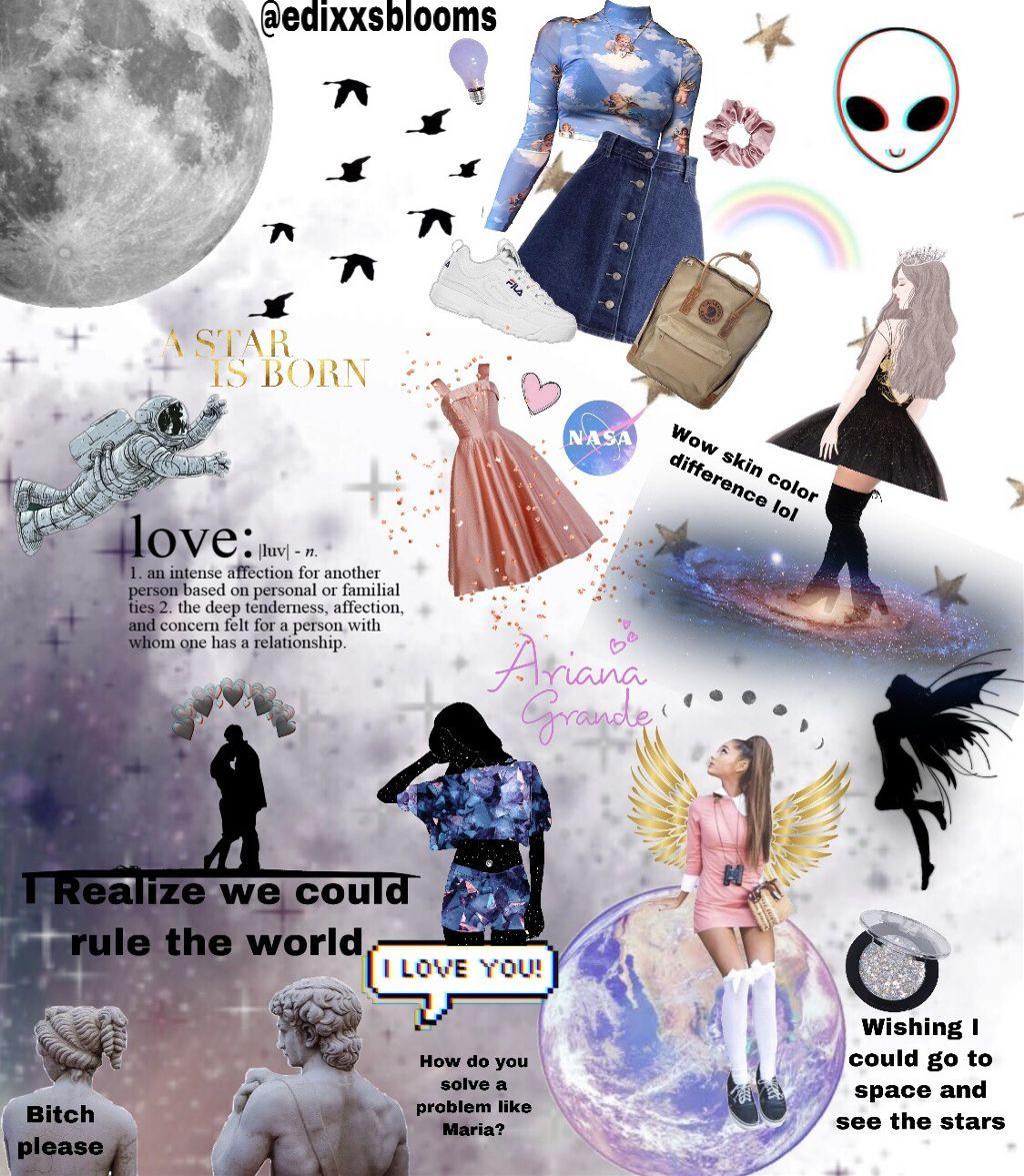 space moodboard moodboards music arianagrande night nas