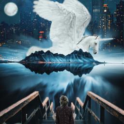 freetoedit surreal overnight city photomanipulation