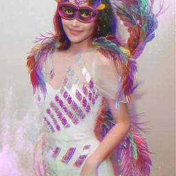 srccarnavalmask carnavalmask freetoedit woman feathers