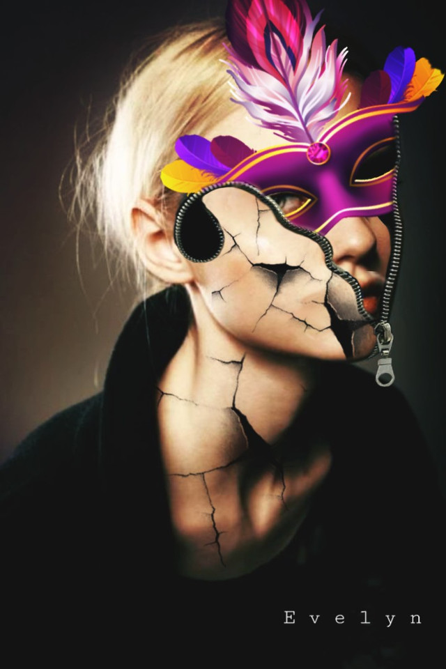 #freetoedit #woman #surreal #mask