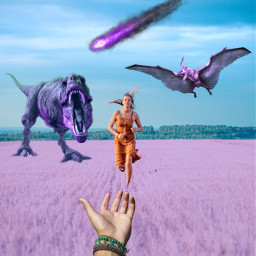 freetoedit field lilac dinosaur running
