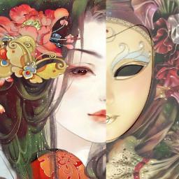 freetoedit woman geisha girl traditional ircmardigras