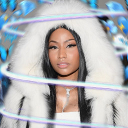 freetoedit nicki minaj queen blue