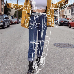 outline draw drawing fashion freetoedit