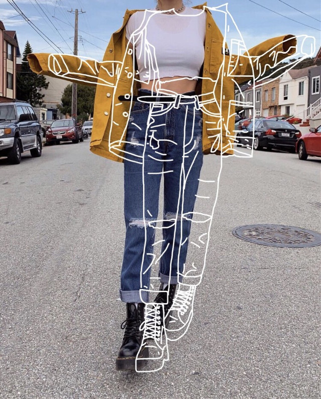 ✨Pro Tip✨ A little drawing goes a lonnnnng way😎🔝😎 Outline remix by @emmadolancharles #outline #draw #drawing #fashion #freetoedit