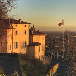 bergamo mycity italy italia tramonto