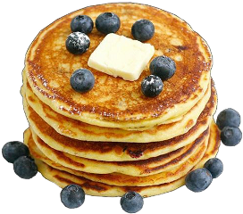 food foodporn pancakes butter blueberries freetoedit