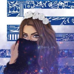 freetoedit greece girl art sarra