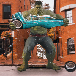 freetoedit hulk smash car destroyed scratches ftestickers