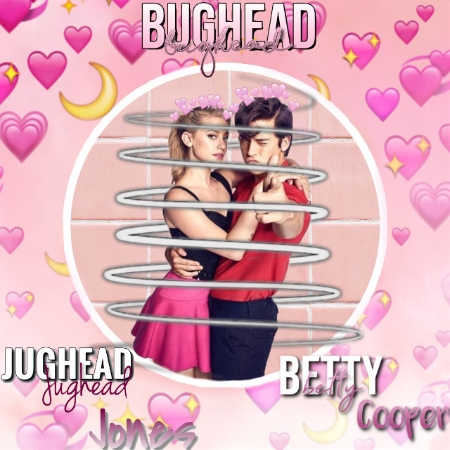 #freetoedit #pink #hearts #moons #bughease #betty #jughead #riverdaleedit #riverdale #pinks @rivedale__