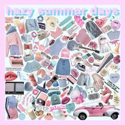 hazy summer summerdays pink blue