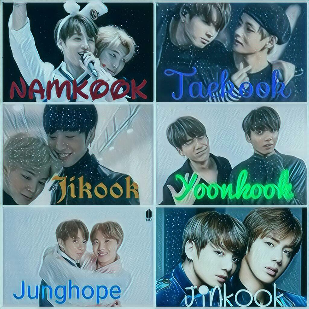 All the ships of jungkook, all the ships in bts are ama