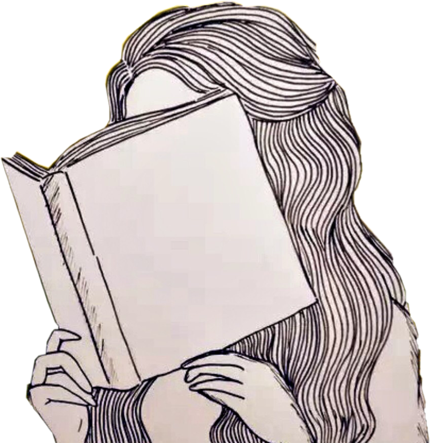 Bookchallenge Read Book Girl Drawing Sticker By Ariel