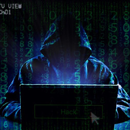 freetoedit hacker hacked blue green computer technology picsart edit man boy scary new hoodie night dark error beware numbers