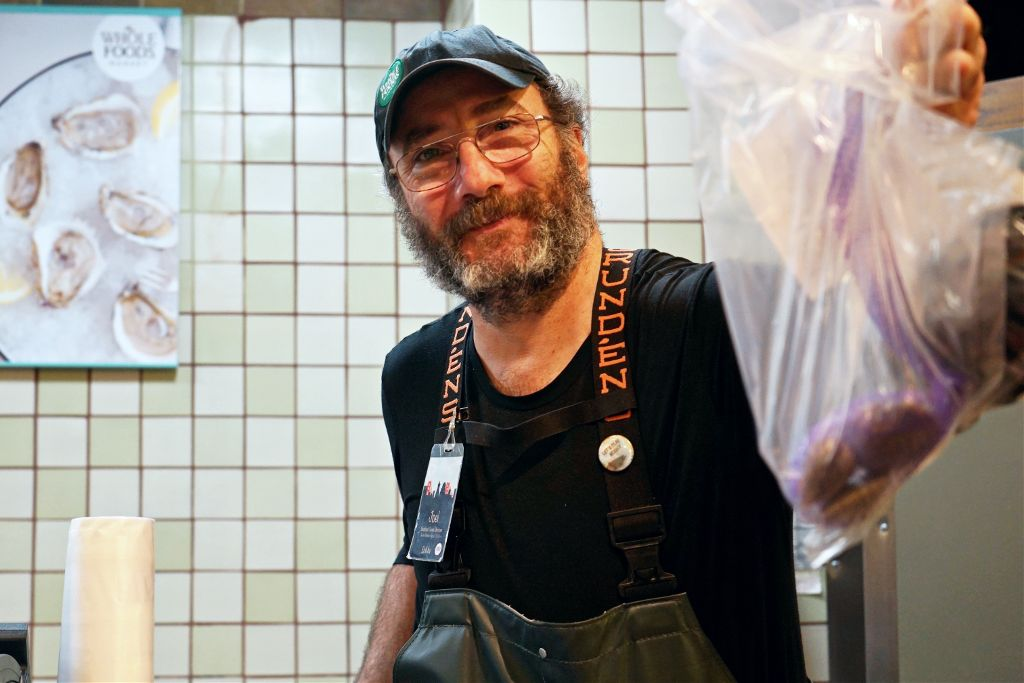Joel from Wholefoods #seafoodcorner