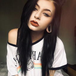 kaylamorbid alternativegirl alternativemodel tattooed pierced freetoedit scenekid scenegirl