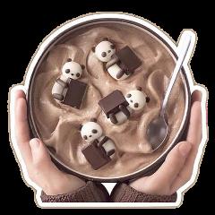 thankunext yogurt chocolate meangirls hands freetoedit