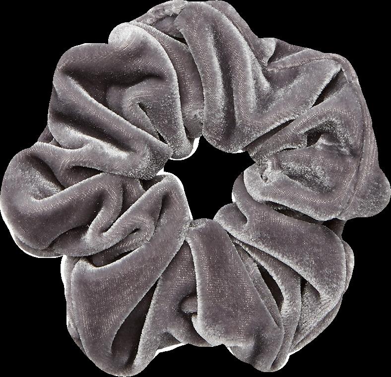 scrunchie scrunchies grey silver aesthetic velvet greya...