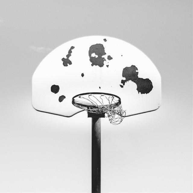 Start your day by remixing this image! Unsplash (Public Domain) #basketball #basket #blackandwhite #freetoedit