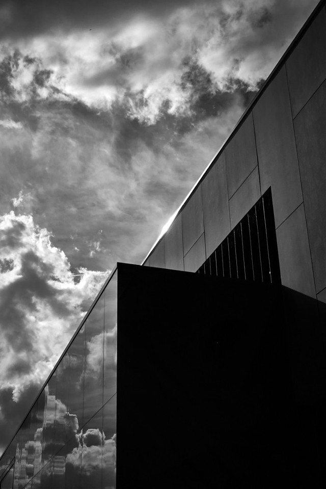 #public #library #building #photography  #reflection  #clouds #shadows #abstraction #shape #form