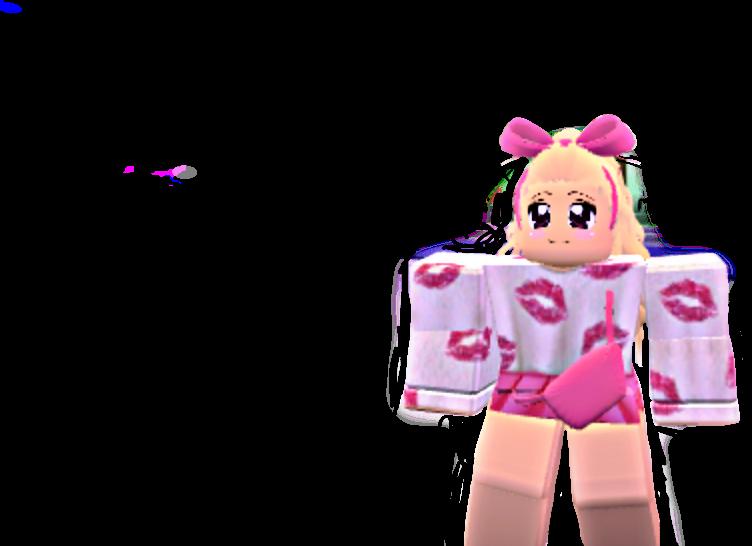 Roblox Girl Pink Cute Anime Kawaii Eek 50 Remixes Lov