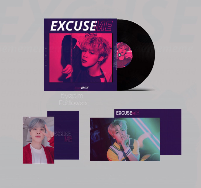 EXCUSE ME ( VYNIL EDITION )   RELEASE DATE: APRIL 1 2019  -COMES WITH 1X PHOTOCARD 1X POSTCARD 1X SECRET LIMITED PC   GO TO @BYEPJM AND SAY CONGRATULATIONS FOR  WINNING BEST ALBUM👀👀🎉💕    ALBUM COVER : @BYEPJM   PHOTOCARDS (BACK) : @EDITFLOWERS_         Again Congratulations to the winners🎉💞 Thank you for joining my contest !! All the entries were beautiful , it was hard to choose a winner!! yall are so talented💕💞          Prizes  -edit request ( unlimited )  -follow -spam And more surprises...👀    #jiminsolo #freetoedit  #kpop #kpopedit #bts #btsedit #parkjimin #ogalbumcontest #vynil