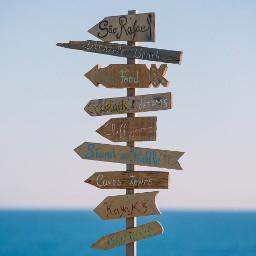 beachvibes signs woodensigns directions handmade freetoedit