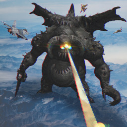 freetoedit demon gigant monster laserbeam