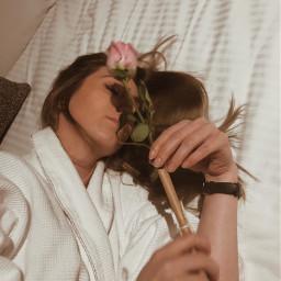 pcflowerinhand flowerinhand flower rose girl