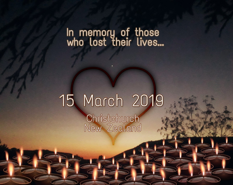 #freetoedit my tribute...😢🖤  @pa @freetoedit #myedit #candles #sad #newzealand #50liveslost