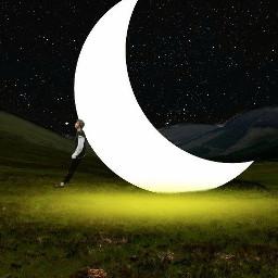 freetoedit picsart madewithpicsart editedmyme moonlight