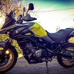 motorcycle suzukivstromxt yellow lumia950xl