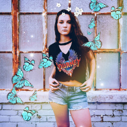 freetoedit butterfly rainbow rockstar girlpower