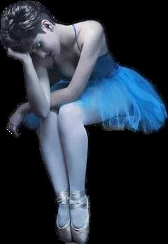 freetoedit ballerina girl sad sitting
