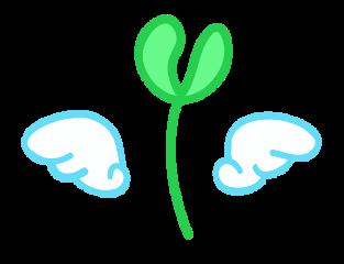 发芽 长草 seed grass bud freetoedit