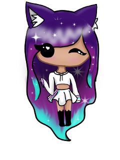 chibi art digital galaxy outfit freetoedit