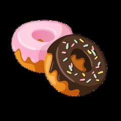 donut sticker chocolate sprinkles sugar freetoedit