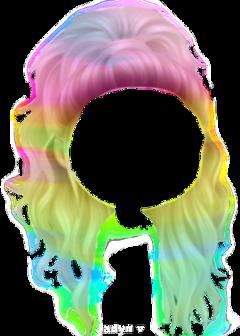 momio hair rainbow freetoedit