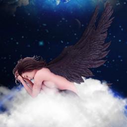 freetoedit angel blackangel heaven