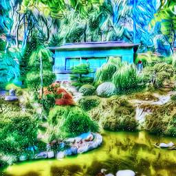 freetoedit mountainhouse shack gardens magiceffect