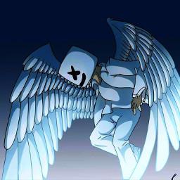 marshmello fanart marshmellomusic hdr2 angel